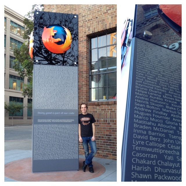 Me at Mozilla Monument