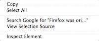 current firefox context selectedtext