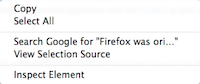 current firefox context selectedtext