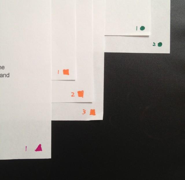 Note Shape Oranization