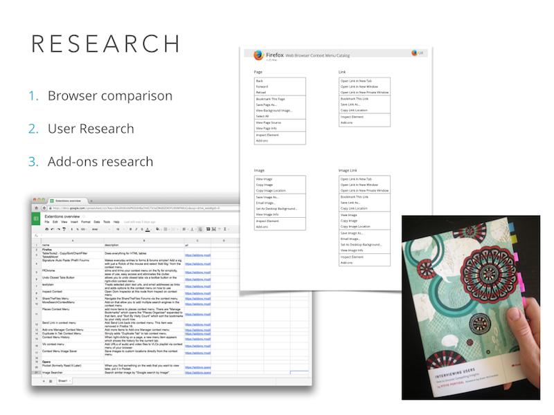 context menu research - research