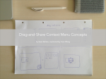 context menu design conepts (theme 1 drag-and-share) cover